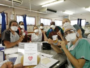 Nurses with cookies | Mountain View Baptist Church, Lakeside, Cape Town, South Africa